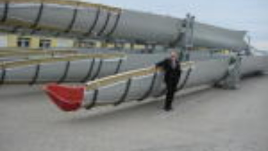 Bernd Lange bei der Firma ENERCON