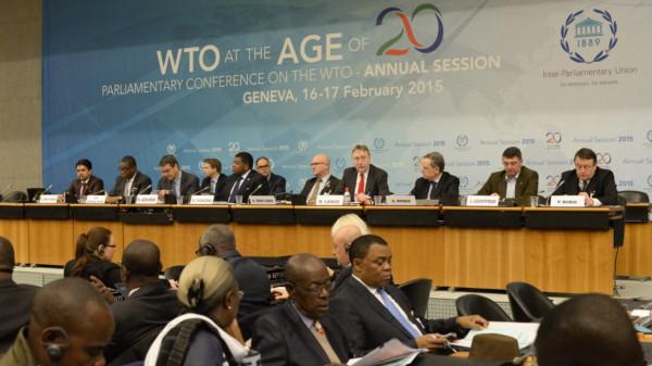 Foto bei der WTO in Genf