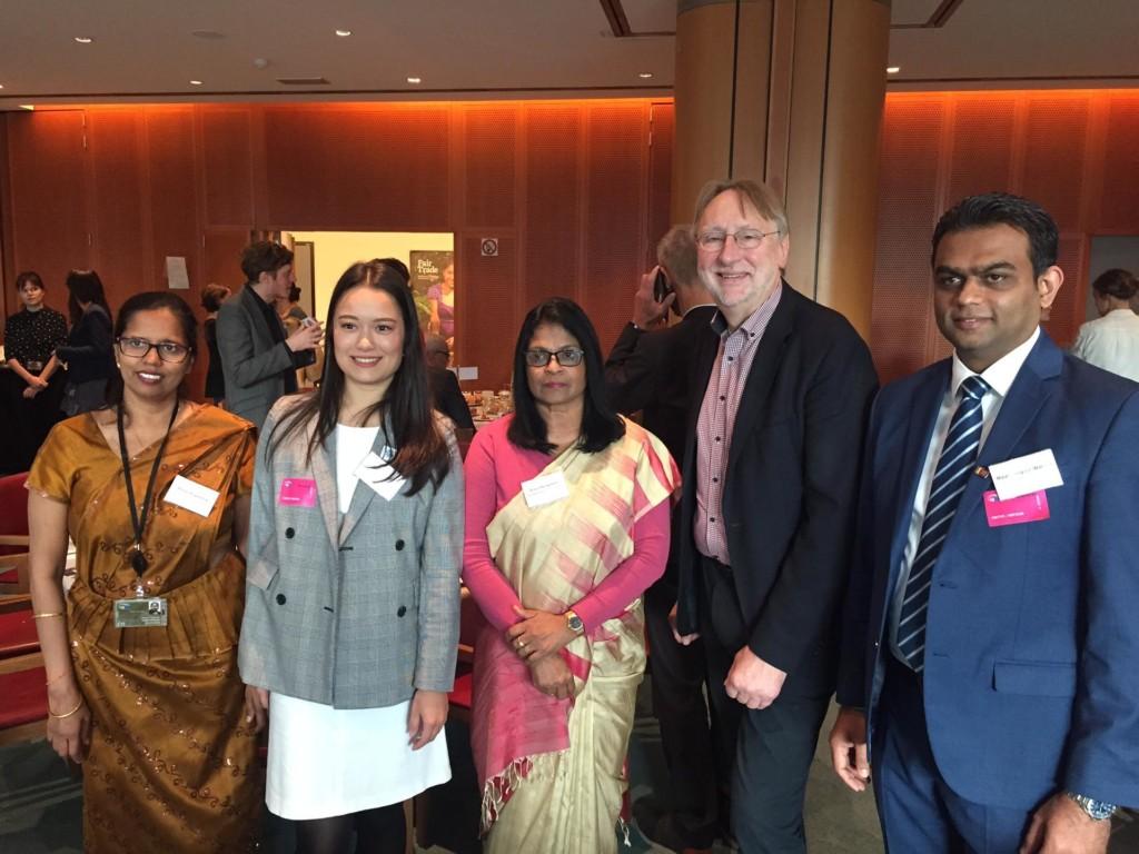 Bernd Lange mit der Botschafterin von Sri Lanka in Belgien