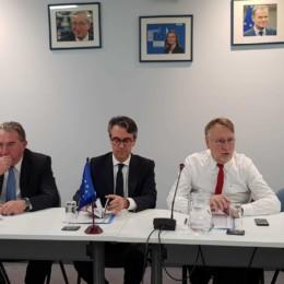 Bernd Lange mit dem Botschafter der EU