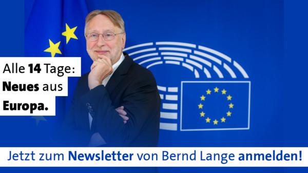 Bernd Langes Newsletter erscheint alle 14 Tage.