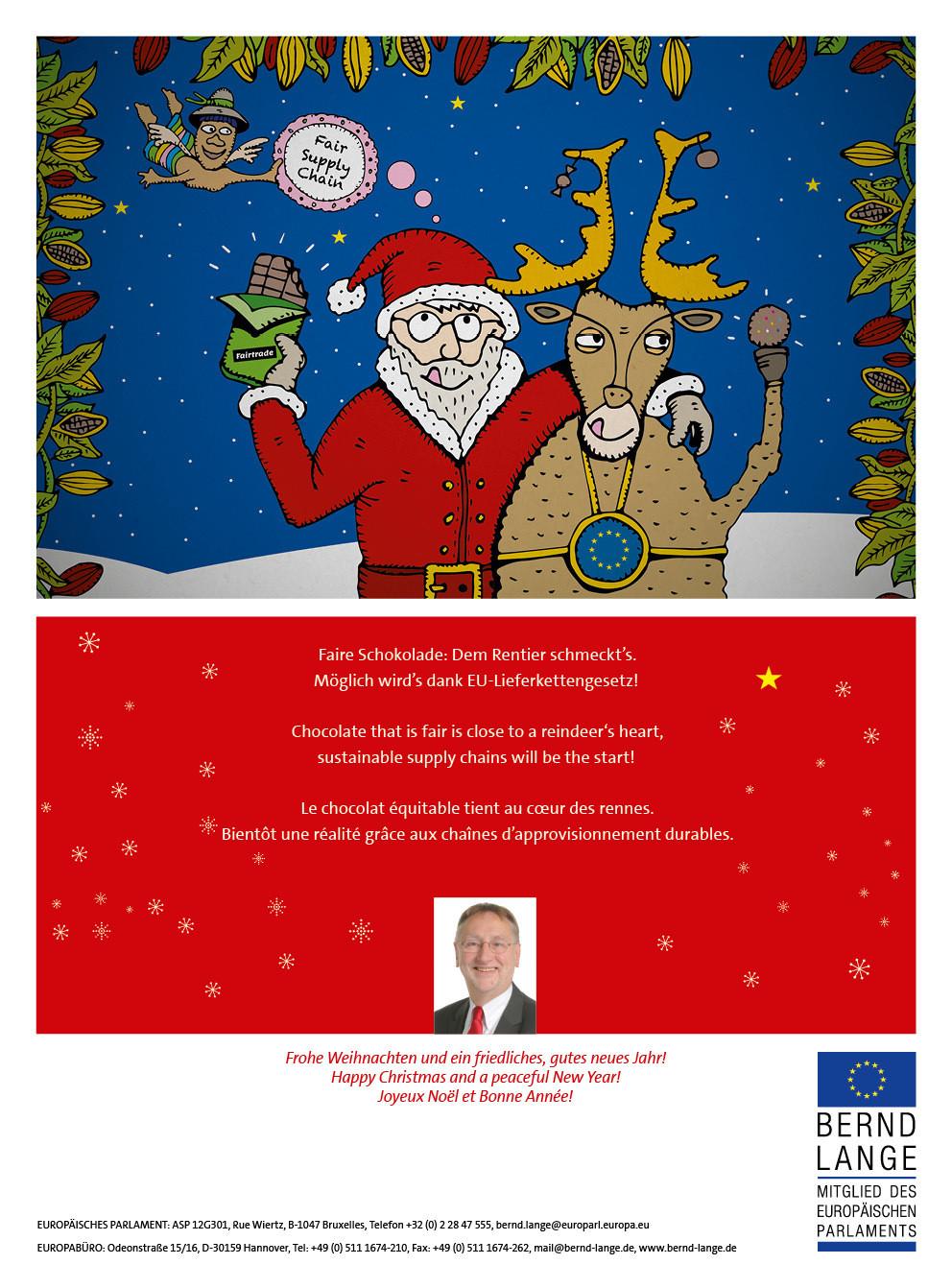 Bernd Lange Weihnachtskarte